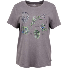 United By Blue Blossom & Berry SS Graphic Tee Women Steel Grey